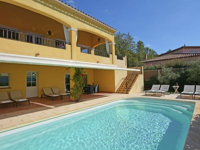 Photo for Spacious luxury villa with private heated pool and stunning views