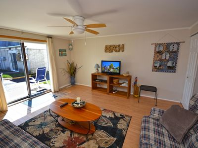 Photo for Simple, cute 2 bedroom condo with WiFi and an outdoor pool located downtown on the bayside and just a few blocks to the beach!