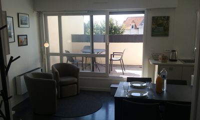 Photo for Grand F2 with Terrace, Landing Beaches, Courseulles sur Mer