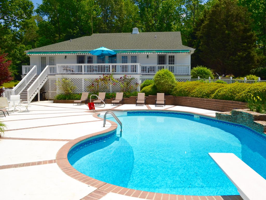 Your Lake Gaston Vacation Retreat Pool Lake Front And