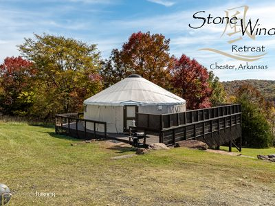 Photo for Deluxe Mountain Yurts with Hot Tubs close to Fayetteville, Razorback Stadium