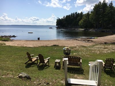 Photo for Well Appointed House on a Secluded Sandy Beach Cove - West Shore - Sebago Lake