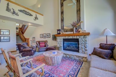 Main Living Room with gas fire place.
