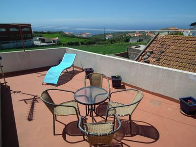 Photo for Typical Portuguese house with large sun terrace and sea views
