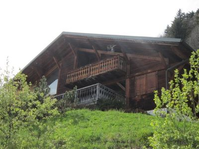 Photo for CHALET TO RENT LES GETS - NICE - SPACIOUS - 10 PERS. MAX - FIREPLACE - WIFI - SAUNA - SOUTH - 800 M FROM THE CENTRE-