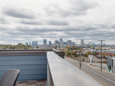 Photo for See the FANTASTIC NASHVILLE SKYLINE from our rooftop deck
