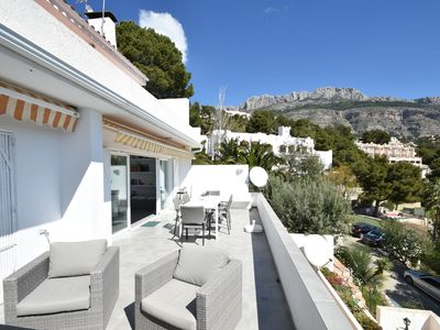 Photo for Apartment with fantastic view shared swimming pool at Altea on the golf course