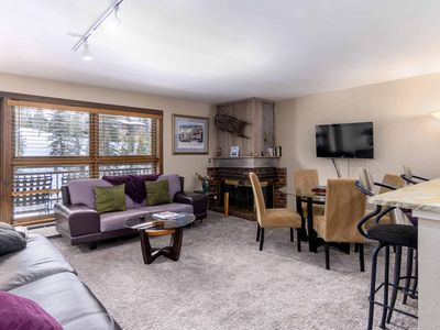 Photo for Mountain view with ski-in/ski-out access and shared pool & hot tubs in Lionshead