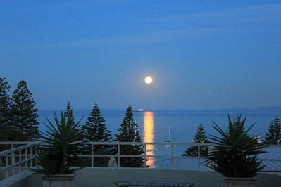 Moon rise from the terrace.