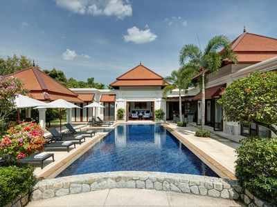 Photo for Luxury villa near Bang Tao beach, 15m private pool and spa, accommodates 10