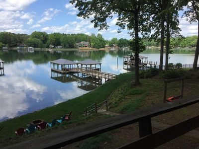 Photo for Lakefront Retreat, new boathouse, gazebo on deep water