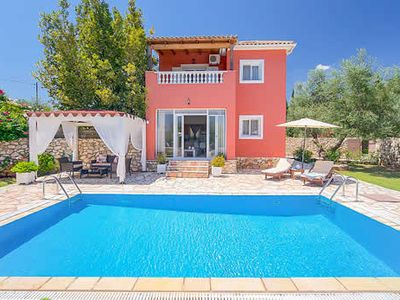 Photo for Romantic couples' one bedroom villa, 5 minutes stroll to restaurants and a mini-market, peaceful with a good size pool, charming and stylish.