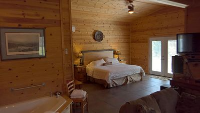 Photo for Cabins at Sugar Mountain, Sugar Suite #3, King Bed, WiFi, Jetted Spa Tub, Private Patio