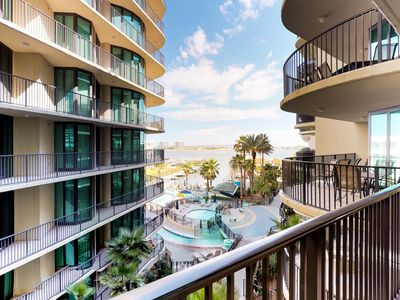 Photo for Waterfront condo w/ on-site water park, shared pool, & hot tub