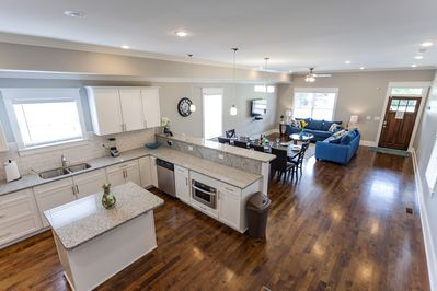 Very spacious and open layout.  Soaring 10 foot ceilings.