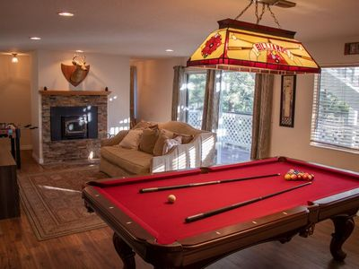 Photo for Big Beautiful Big Bear Cabin Fun for whole Family! Pool Table Plus More!