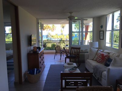 Open Living Area and Balcony