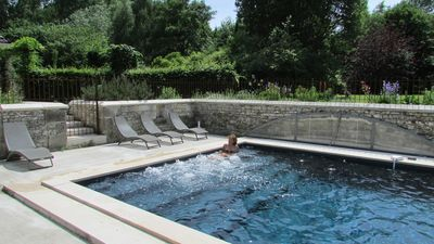 Photo for LA COQUETIERE  XVI century manor, Covered salt Swimming pool with spa.