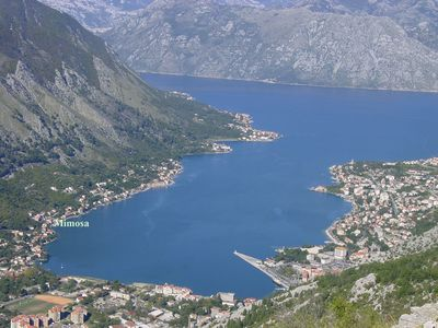 Photo for Sea-front apartment with large terrace overlooking Kotor Bay