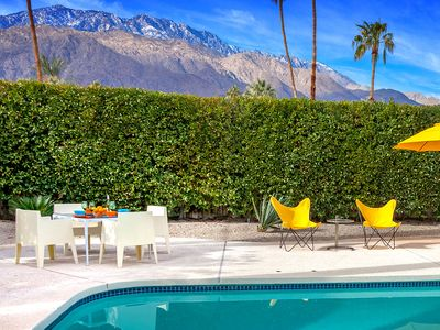 Photo for Midcentury Cool: 3  BR, 2  BA House in Palm Springs, Sleeps 6
