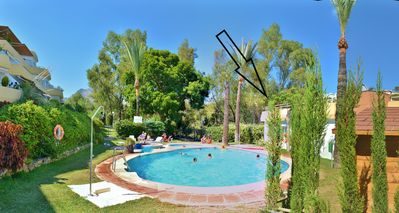 Photo for Penthouse 120m2, 2Terraces 66+120m2, 2Pools,Garden,Golf, Beach 300m,