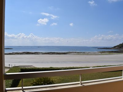 Photo for SUPERB SEA VIEW apartment, facing Tresmeur beach in TREBEURDEN