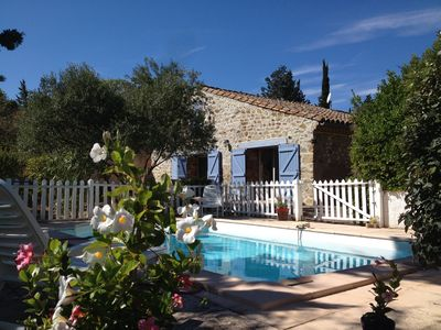 Photo for Corbières fold, 8 Pers, Private Pool, Air Conditioning, Garden Raised 1100M2