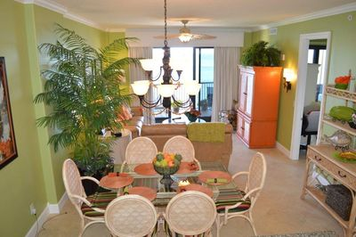 View from kitchen into dining room. Very bright and airy.