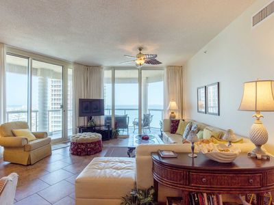 Photo for Magnificent Beach and Bay Views! Private Balcony and Access to Fantastic Resort