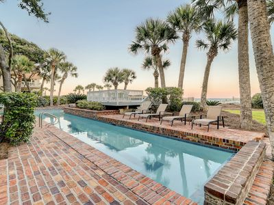 Photo for Oceanfront Sea Pines home w/ private pool, screened porch, & easy beach access!
