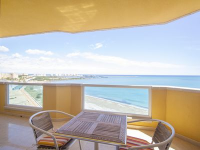 Photo for Superb penthouse perfectly located just steps from the beach...