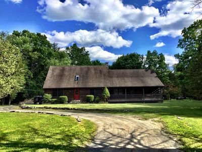 Photo for Family-Friendly Catskills / Hudson Valley Log Cabin Oasis - Perfect Location