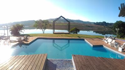 Photo for Beautiful country house with swimming pool with waterfall and large green area