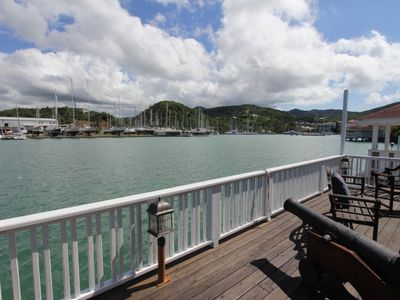 Photo for Stunning 4 bedroom waterfront villa located in Jolly Harbour close to the beach