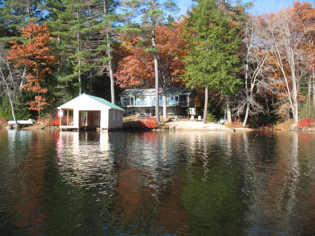 Lake Winnipesaukee Water Front Home With Sandy Beach
