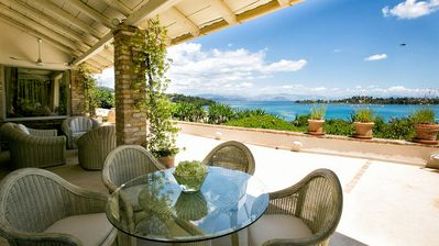 Photo for Large Elegant Villa, Stunning Sea Front Position with Direct Access to Gouvia Beach, Pool & Gym!