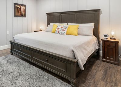 Master bedroom. USB port located on each side of the headboard.