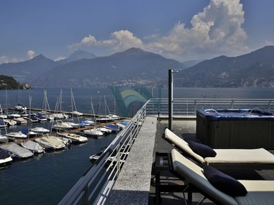 Photo for Villa Navalia - Luxury Lake Como front villa overlooking lake and mountain -