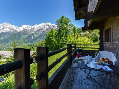Photo for Luxury chalet with free access to swimming pool and 5-star spa. Extraordinary view