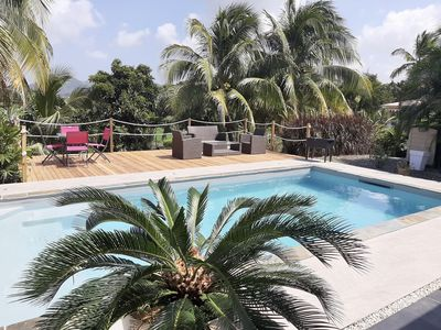 Photo for Suspicion of Paradise, villa standing, swimming pool, 4 people, center of the island