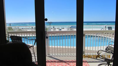 Photo for GROUND FLOOR**CHAIRS**OPENS UP TO POOL & BEACH**NO WAITING ON ELEVATOR