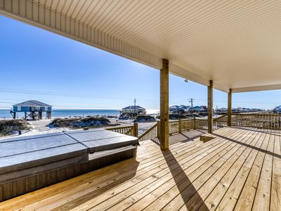 Photo for Stunning home w/ direct ocean views, private hot tub & grill - dogs welcome!