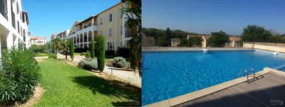 Photo for Center Carcassonne, terrace not overlooked residence with swimming pool and parking