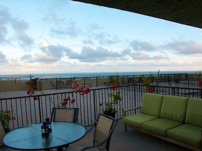 This rooftop deck/patio is private to the condo