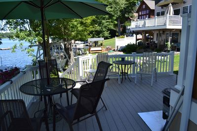 Deck with seating areas