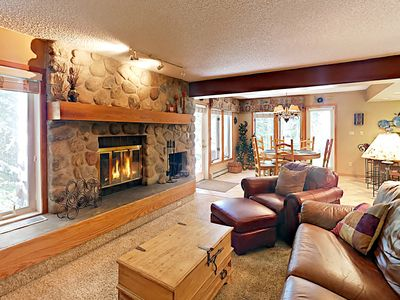 Photo for 3BR Townhome on Ten Mile Creek, 5-Min Walk to Town & Bus to Ski Resorts