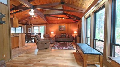 Photo for Charming Cabin near Village Mall w/ WiFi, Hot Tub, BBQ & Free Sharc Passes