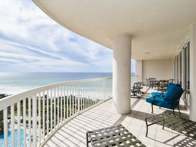 Photo for End Unit at St. Maarten! Large Balcony Overlooking Beach. Free Beach Sevice