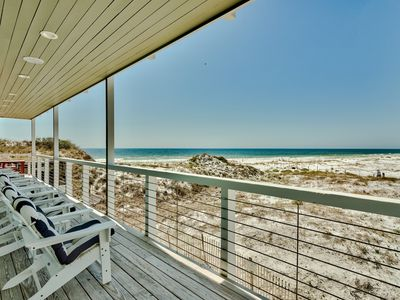 Photo for Gulf Views! Private Pool! Steps From The Beach! Game Room!