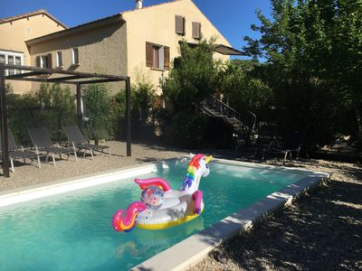 Photo for Gîte d Elena A charming cottage with private pool at the foot of Mont Ventoux